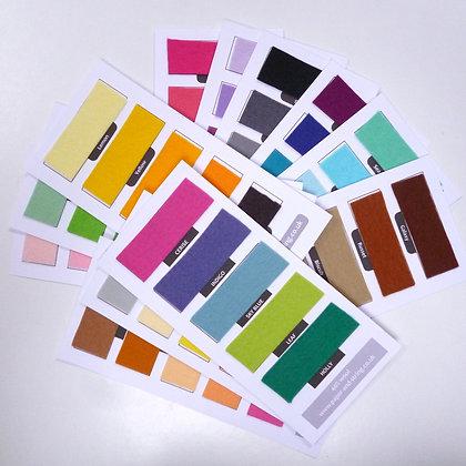 Premium Wool Felt :: 60 colour Swatch Set