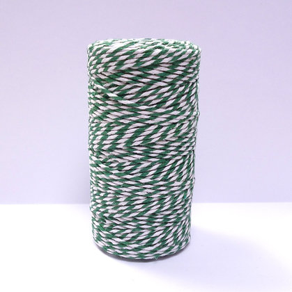 Baker's Twine Spool :: 100m :: Green & White