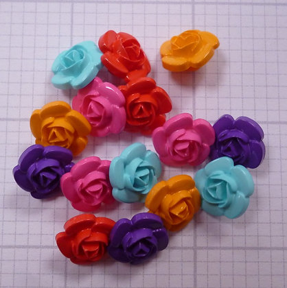 3d rose button pack :: bright