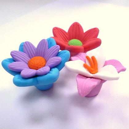 SALE :: Flower Shaped Erasers :: Set 2