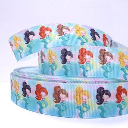 Cute Grosgrain Ribbon :: Mermaids in a row
