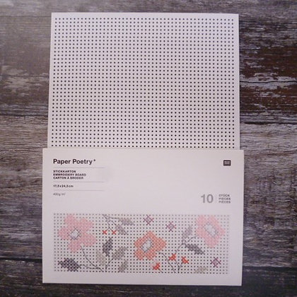 Stitchables :: 10 sheets of embroidery card