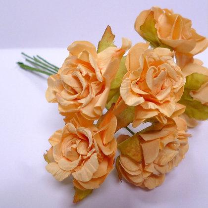 Paper Ruffled Roses :: Peach