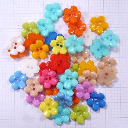 Mixed Button Bags :: 5 Petal Flower