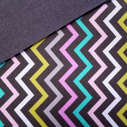 Fabric Felt :: Mini Chic Chevron on Charcoal