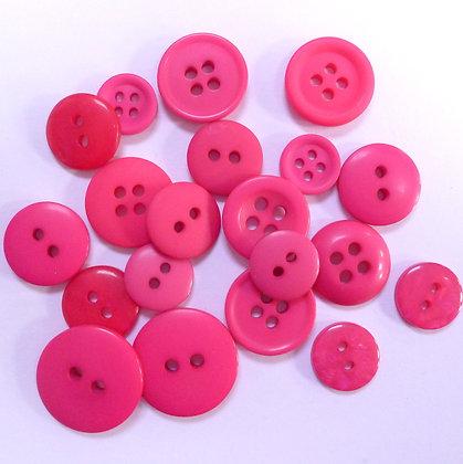 Dyed Pick & Mix Buttons :: Fuchsia