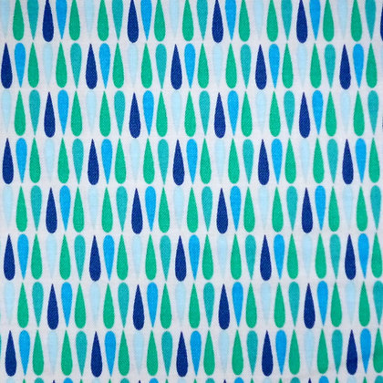 Fabric :: Vintage Kitchen :: Teal Drops