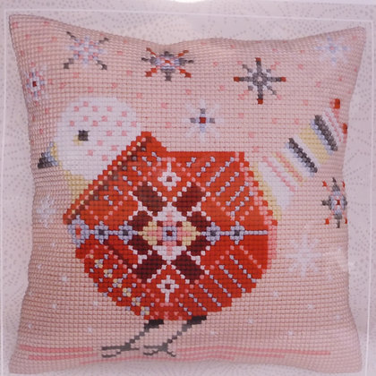 Printed Canvas Cushion Kit :: Christmas Bird