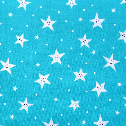Fabric :: Goodnight Stars :: Bright Blue