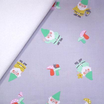 Fabric Felt :: The Gnomes :: Hank the Gnome (grey) on White