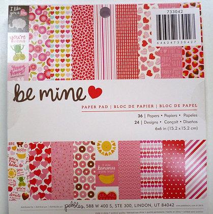 "6"" paper pad :: be mine"