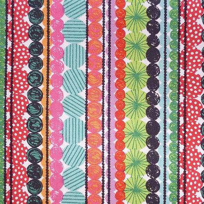 Fabric :: Cool Yule :: Garland Stripe Multi