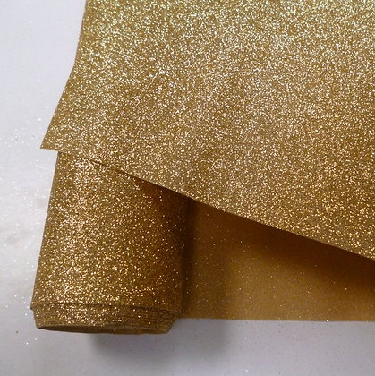 Glitter Fabric from the roll :: per 1/2m :: Yellow Gold