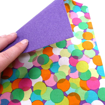 Fabric Felt :: Spotlight Dots on Purple