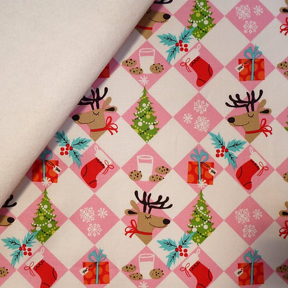 Fabric Felt :: Holiday :: Tinsel Trees on White