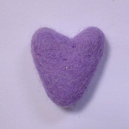 Felt Hearts 100% Wool :: Mauve