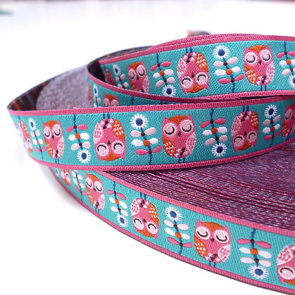 Embroidered Ribbon :: Owls