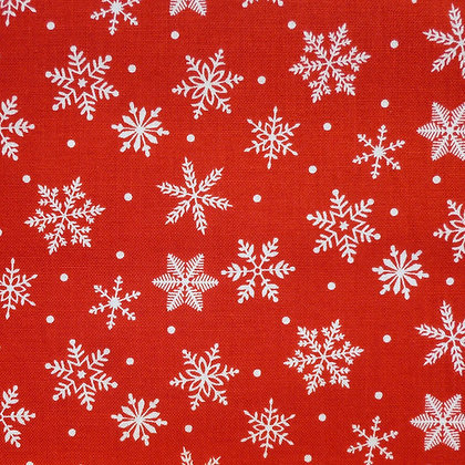 SALE Fabric :: Merry/Bright :: Red Snowflake