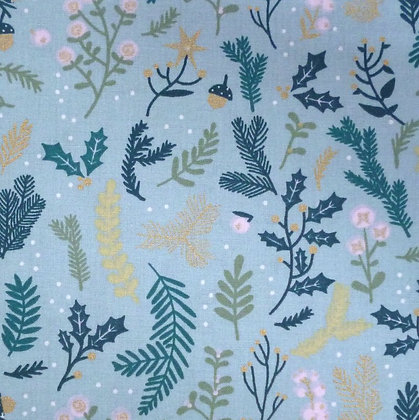Fabric :: Wide :: Winter Branches, Turquoise