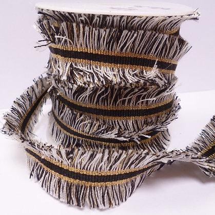 Fringed Braid :: Black & White