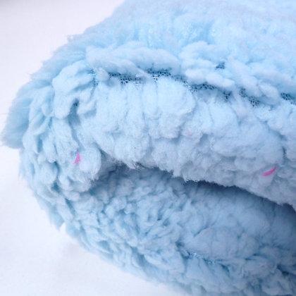 Lamb Fur Fabric :: Baby Blue