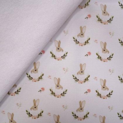 Artisan Fabric Felt :: Handsome Bunny on White