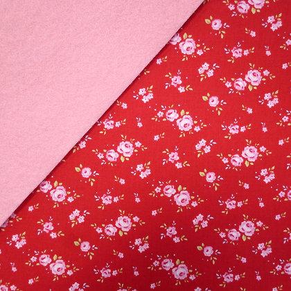 Fabric Felt :: Tilda Roses on Baby Pink LAST FEW
