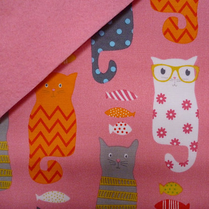 Fabric Felt :: Cats (on Pink) on Pink