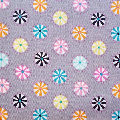 Fabric :: Wide :: Swinging Rounds on Grey