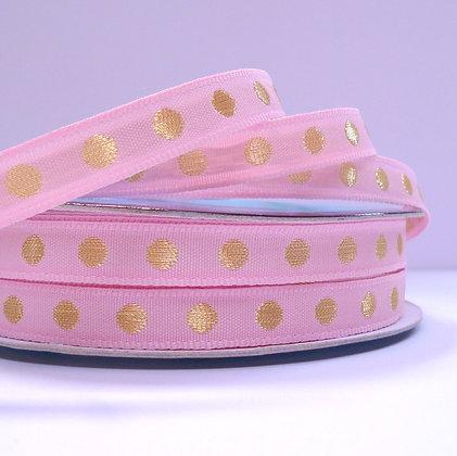 Gold Dot Ribbon :: Pink