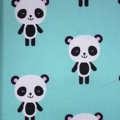 Fabric :: Zoologie :: Aqua Large Panda