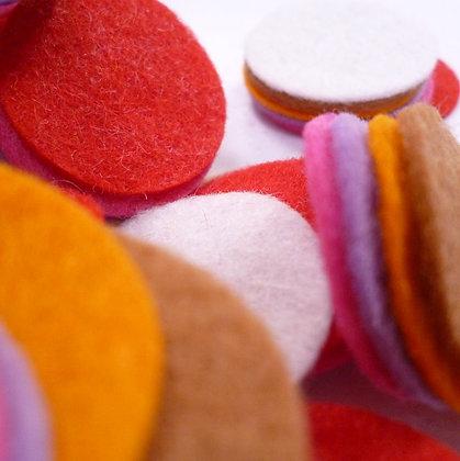 """Die Cut Pack :: 1"""" circles :: Christmas Gingerbread"""