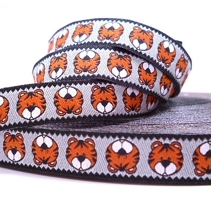 Embroidered Ribbon :: Grey Tiger