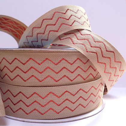Metallic Chevron Ribbon :: Red