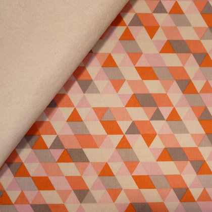 Fabric Felt :: Ava Rose :: Coral Triangles on Natural