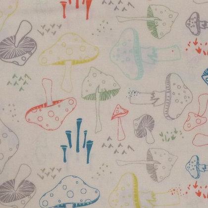 SALE Fabric :: Hello Bear :: Mushrooms