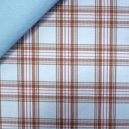Fabric Felt :: Pastel Plaid Blue on Ice Blue