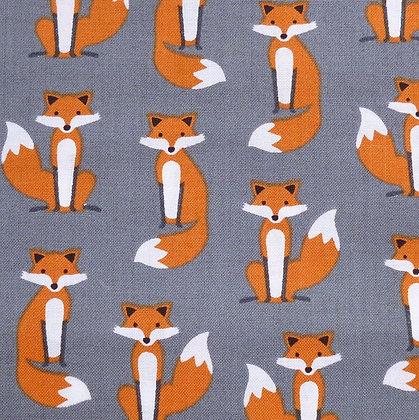 Fabric :: Fabulous Foxes :: Grey
