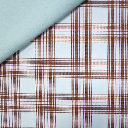 Fabric Felt :: Pastel Plaid Green on Pale Mint