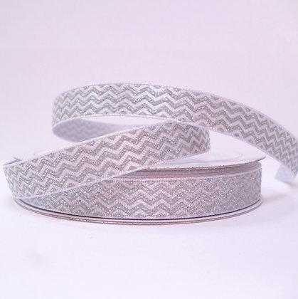 Sparkle Ribbon :: Silver Chevron