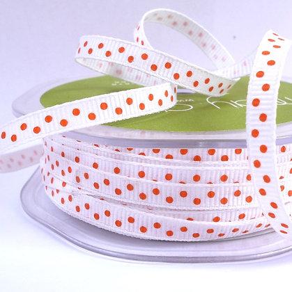 """1/4"""" Polka Dot Ribbon :: Orange"""