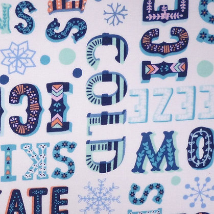 Fabric :: Snow Happy :: Frosty Fonts