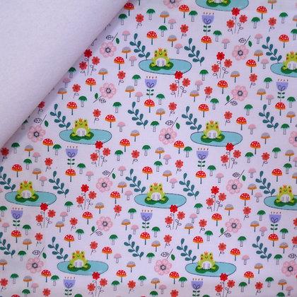 Fabric Felt :: Princess Dreams Frog Prince on White LAST FEW