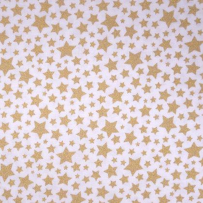 Fabric :: Starbrite Mini Stars :: White & Stars