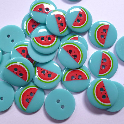 Tropical Summer Button :: Watermelon