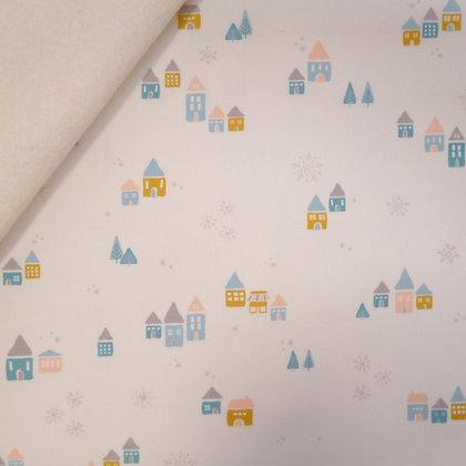 Fabric Felt :: Little Town :: Snowdrift Magic on Natural