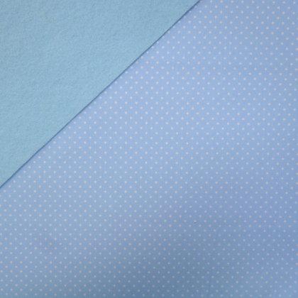 Fabric Felt :: Wide Pin Dot Pale Blue on Ice Blue LAST FEW