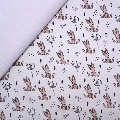Artisan Fabric Felt :: Sitting Bunnies on white