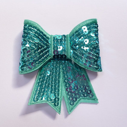 Sparkle Bow :: Large :: Sea Green / Turquoise