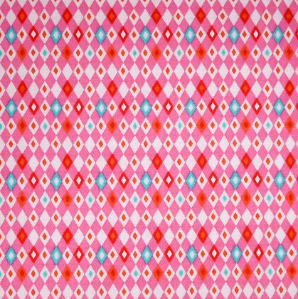 Fabric :: Vintage Kitchen :: Pink Harlequin
